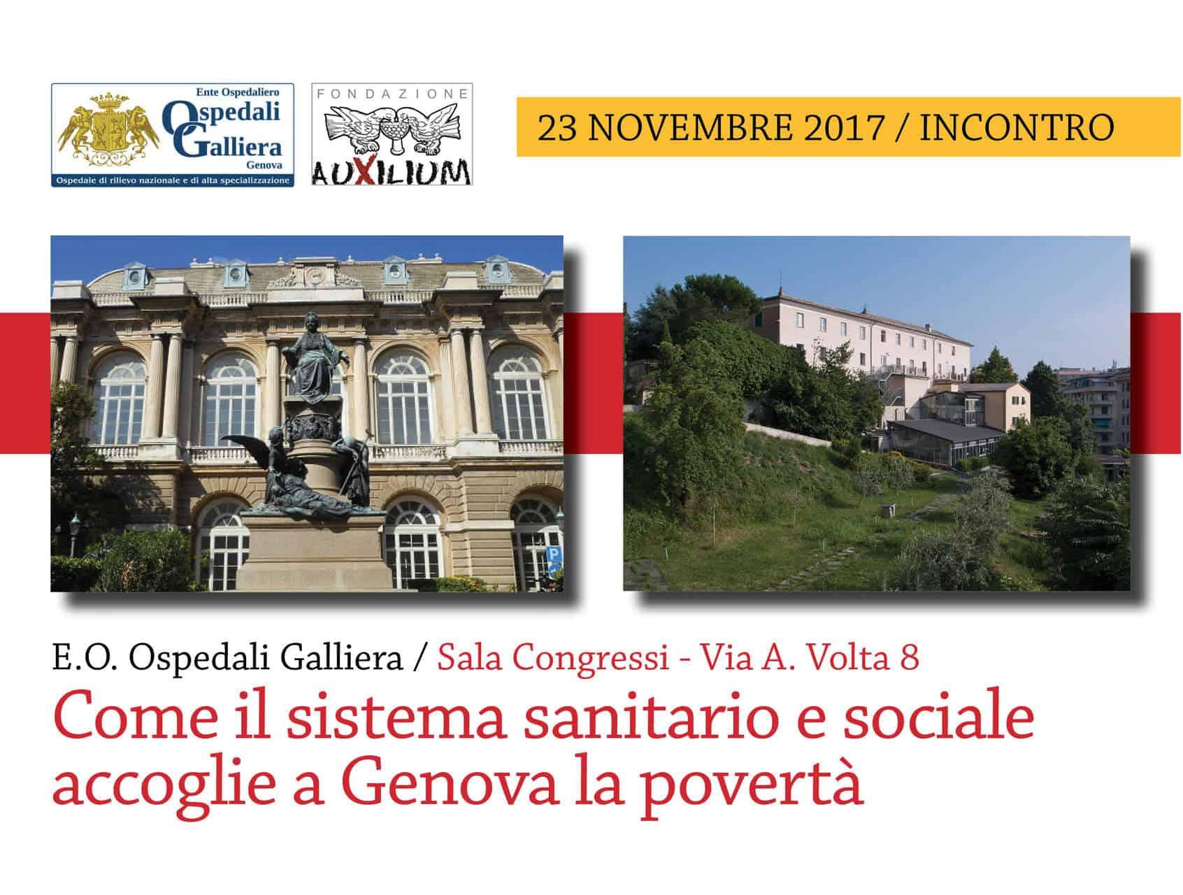 23 Novembre: incontro Auxilium-Galliera su sanità e povertà. Interviene il Card. Bagnasco