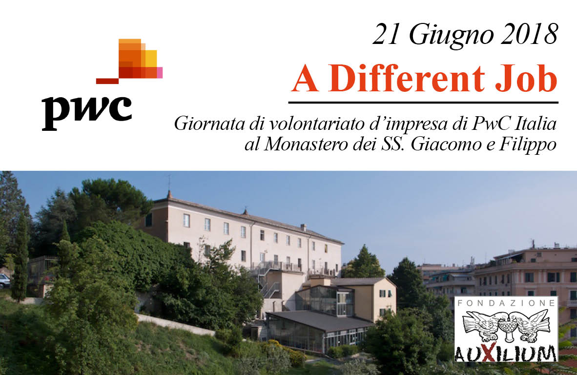 """21 Giugno: """"A Different Job""""! Al Monastero una """"Giornata di volontariato d'impresa"""" per la PwC"""