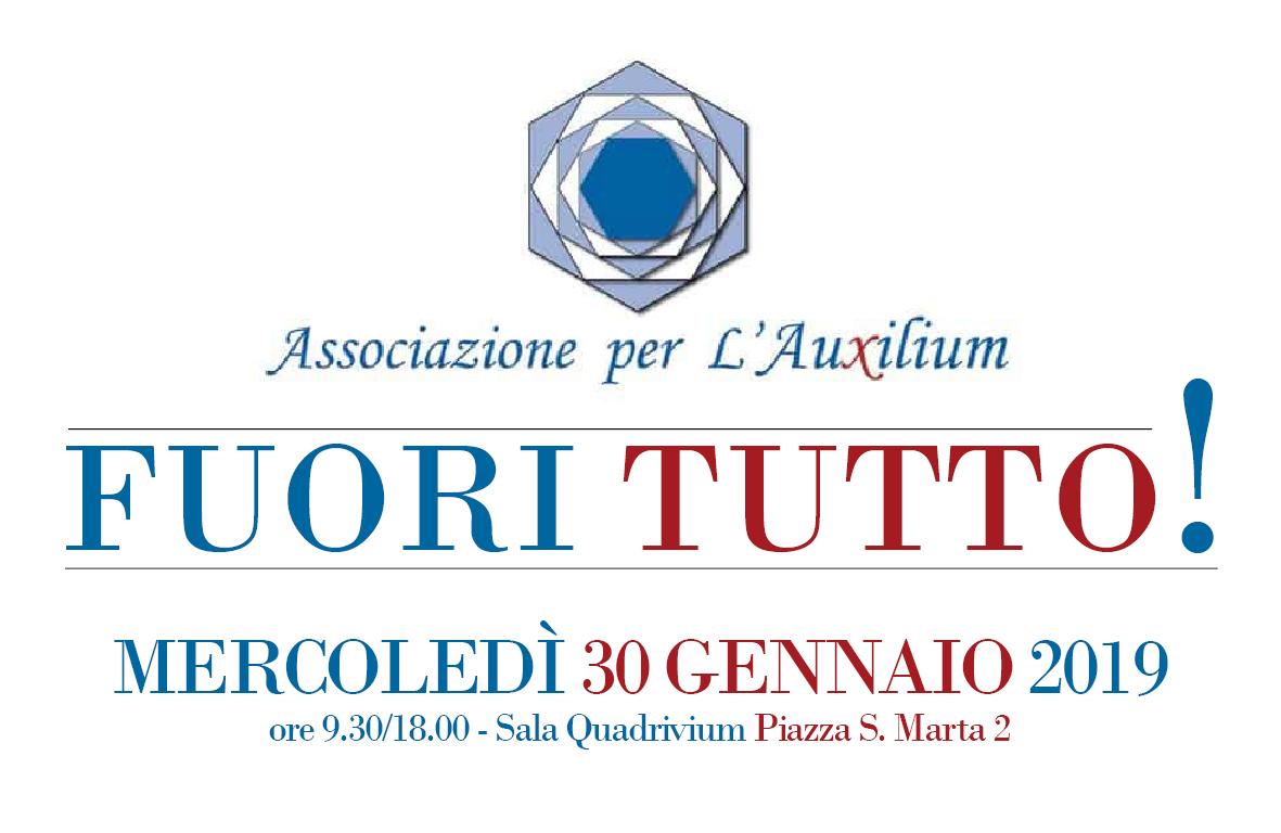 "Associazione per l'Auxilium: 30 Gennaio ""Fuoritutto!"""