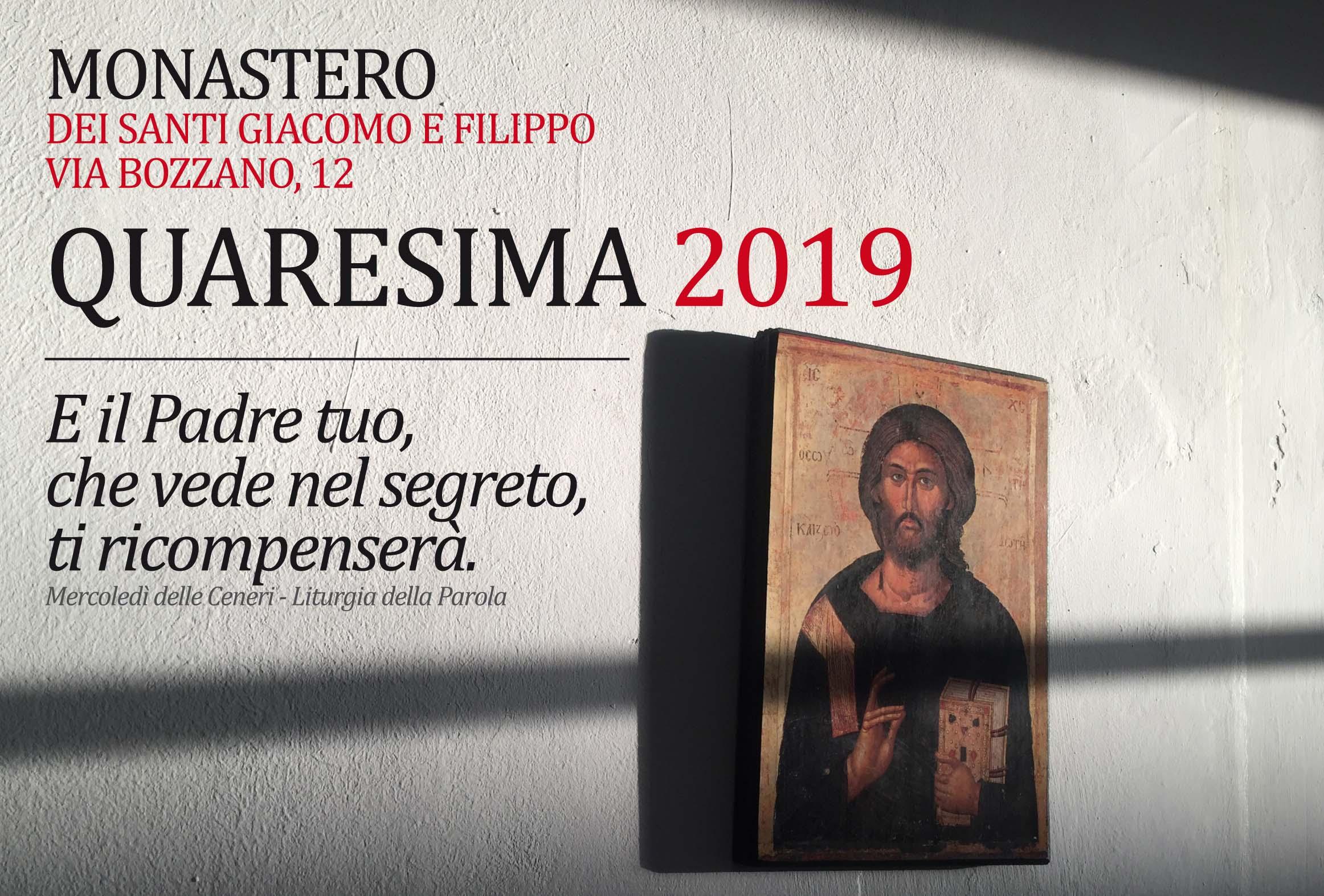 6 Marzo: Mercoledì delle Ceneri al Monastero