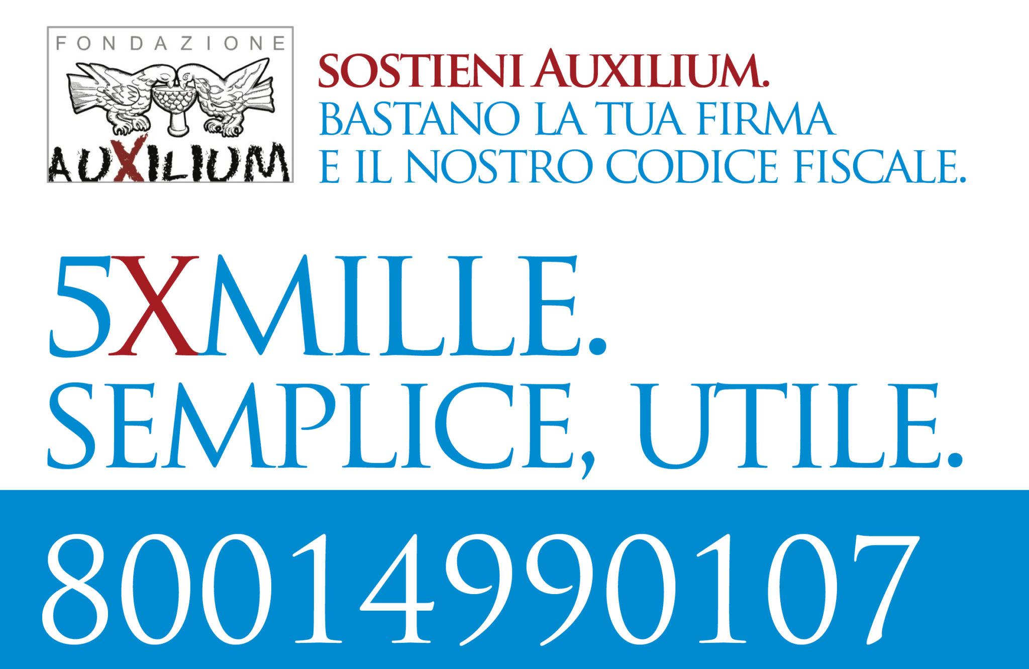 5xmille ad Auxilium. Semplice, utile!