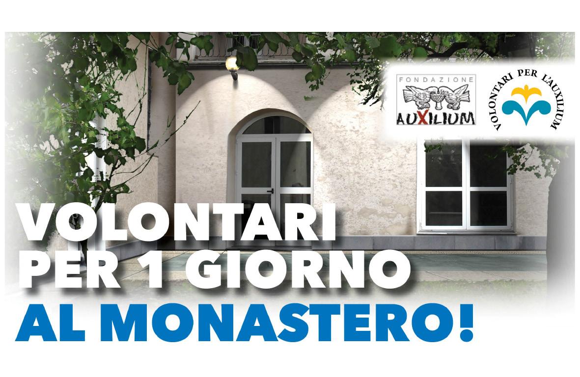 """5 Aprile: MSC Crociere al Monastero come """"Volontari per 1 giorno"""""""