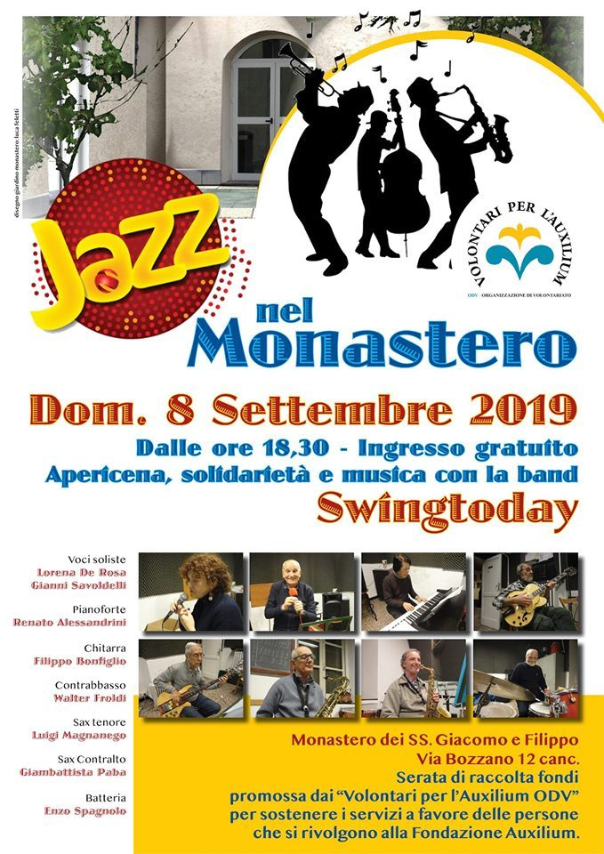 "8 Settembre: ""Jazz nel Monastero""!"