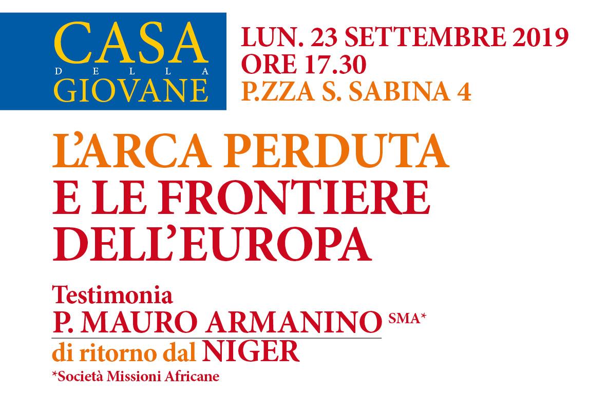 Lun. 23 Settembre, ore 17,30. Incontro con P. Mauro Armanino SMA a Casa della Giovane.