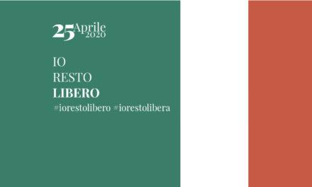 25 Aprile 2020. #Iorestolibero: evento nazionale a sostegno di Croce Rossa e Caritas Italiana