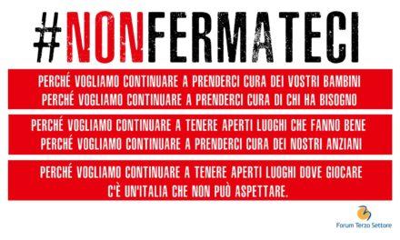#Nonfermateci! La campagna del Forum Terzo Settore