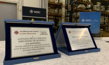 9 tonnellate di cibo grazie a MSC e Agenzia Dogane